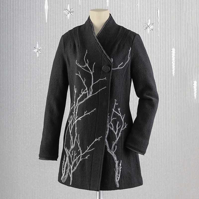 Sakura Boiled Wool Coat