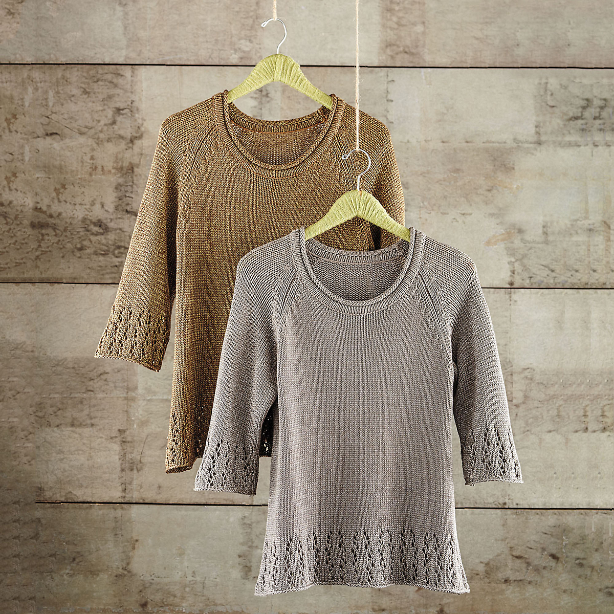 Metallic Pointelle Sweater