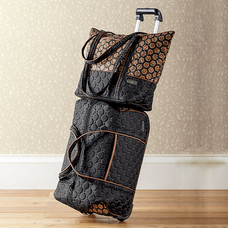 Quilted Tote & Rolling Bag