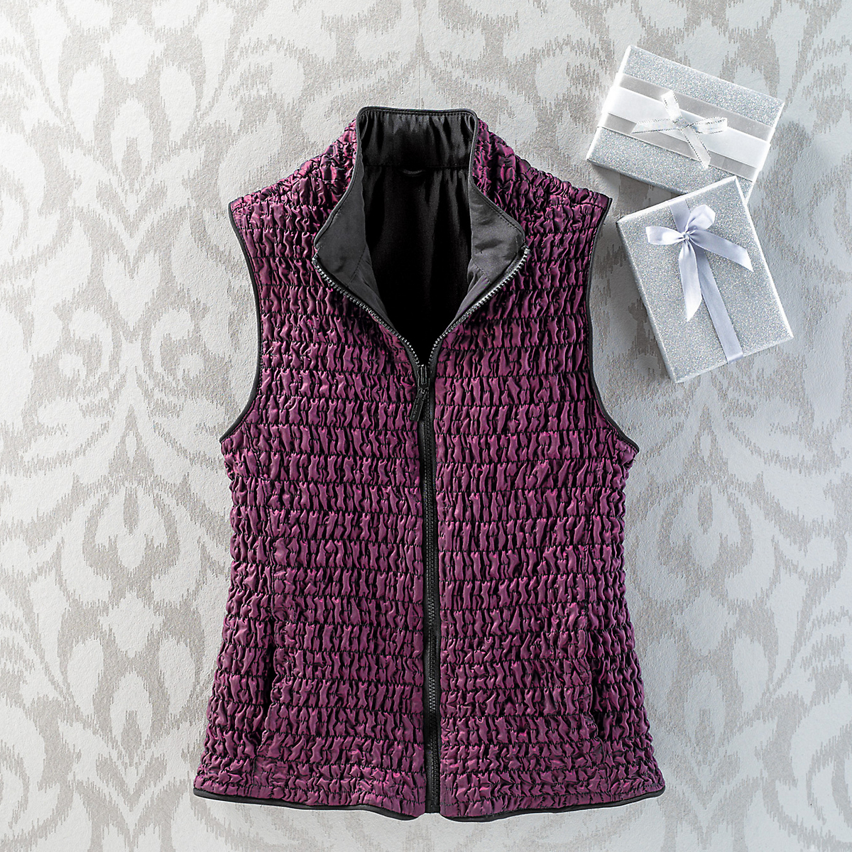 Reversible Pucker Vest