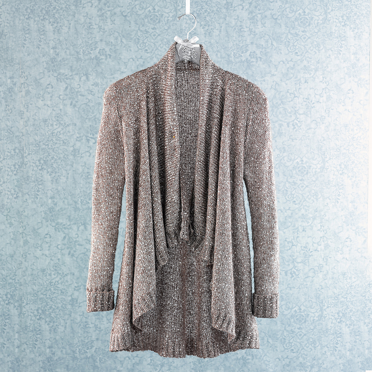 Sequined Mohair Cardigan