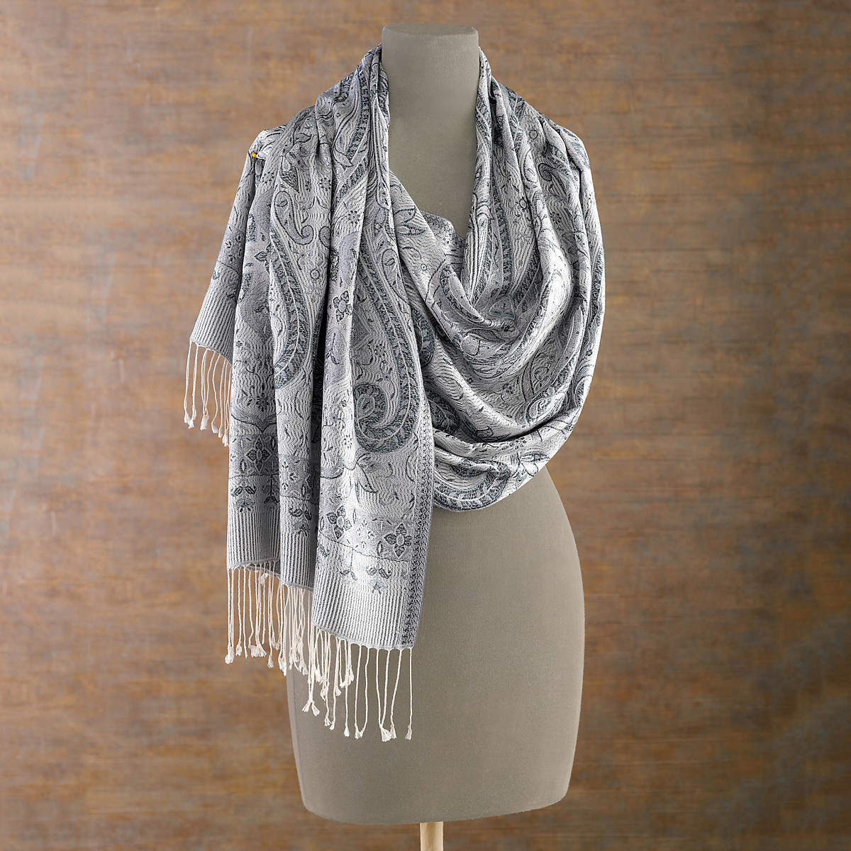 Paisley Silk Shimmer Scarf