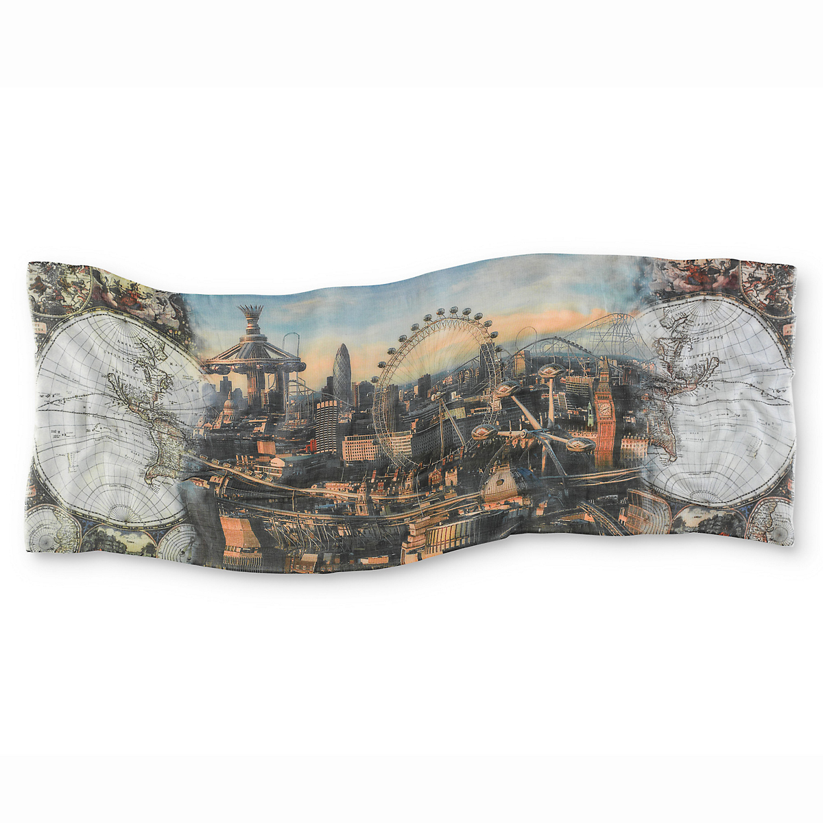 Cashmere & Silk London Eye Scarf