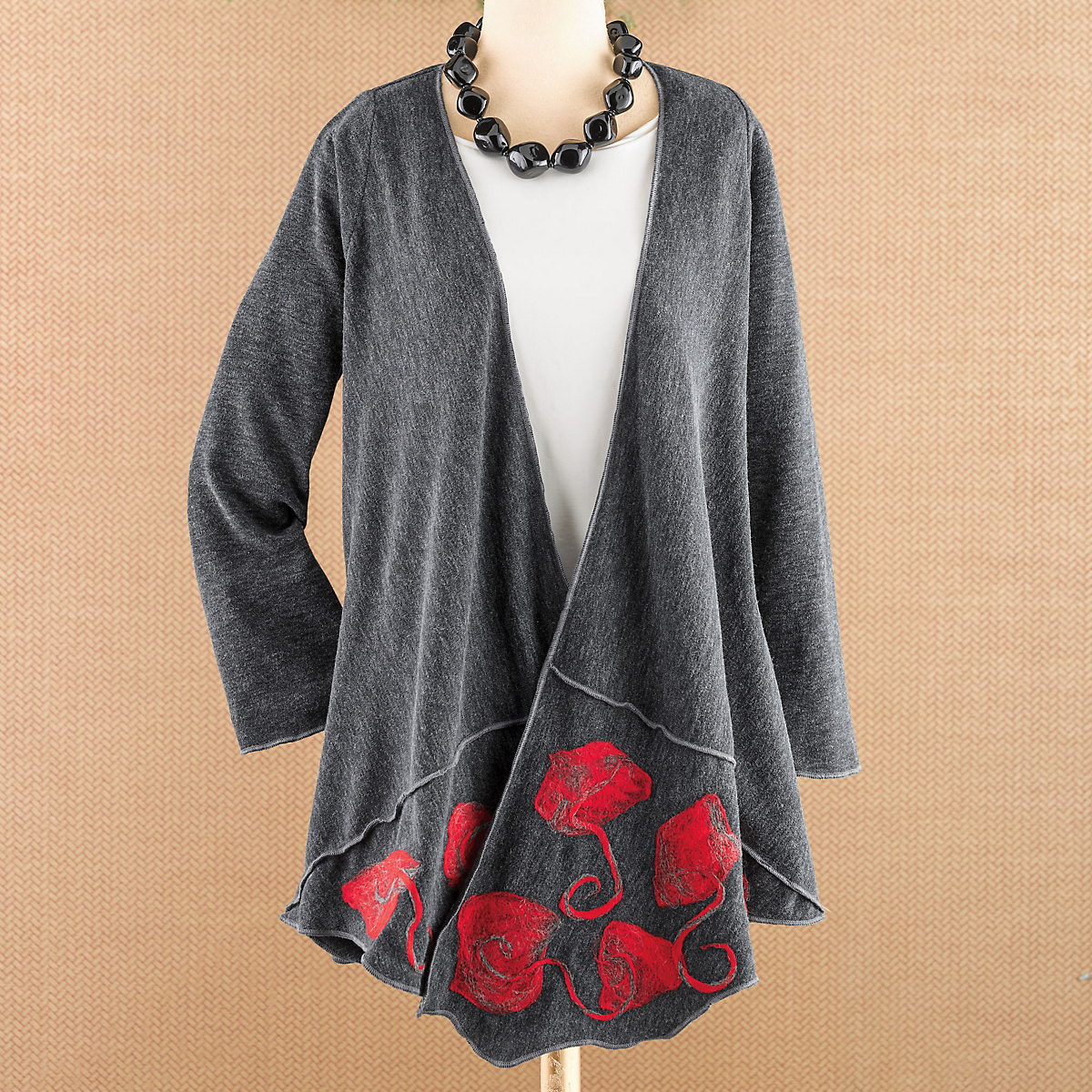 Rose Cascade Cardigan