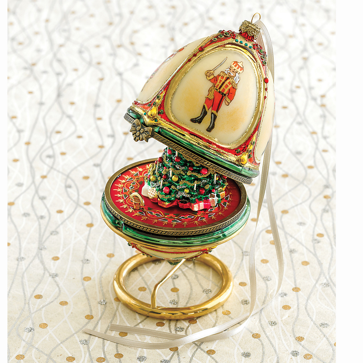 Nutcracker Egg Music Box