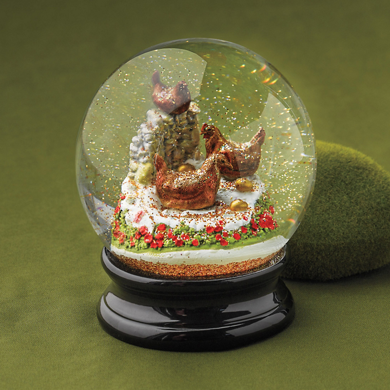 Three French Hens Snowglobe