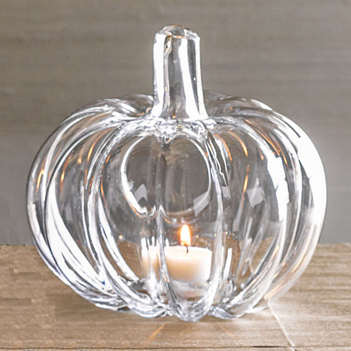 Glass Pumpkin Candleholders, Set Of 4 Small