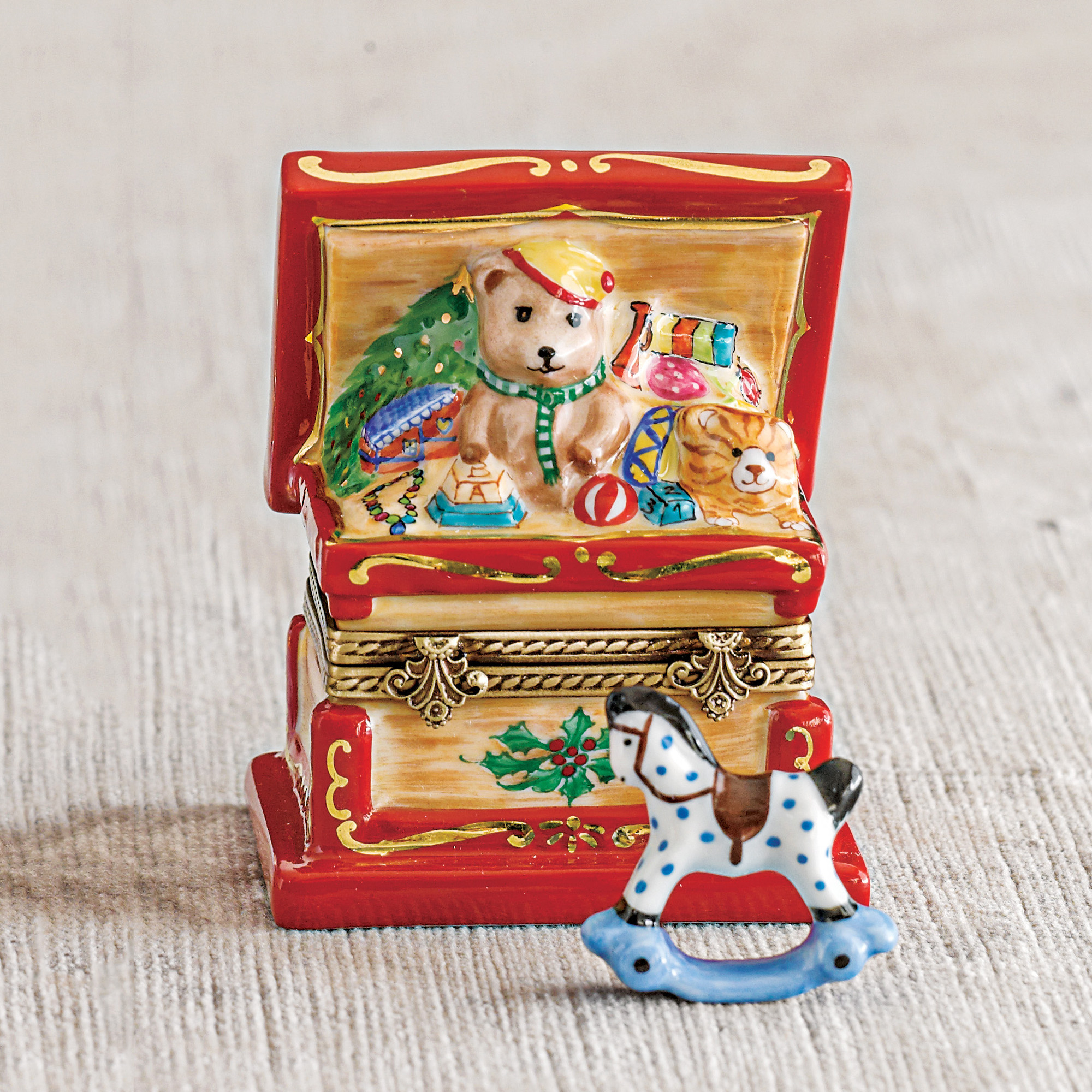 Christmas Toy Box : Limoges christmas toy chest gump s