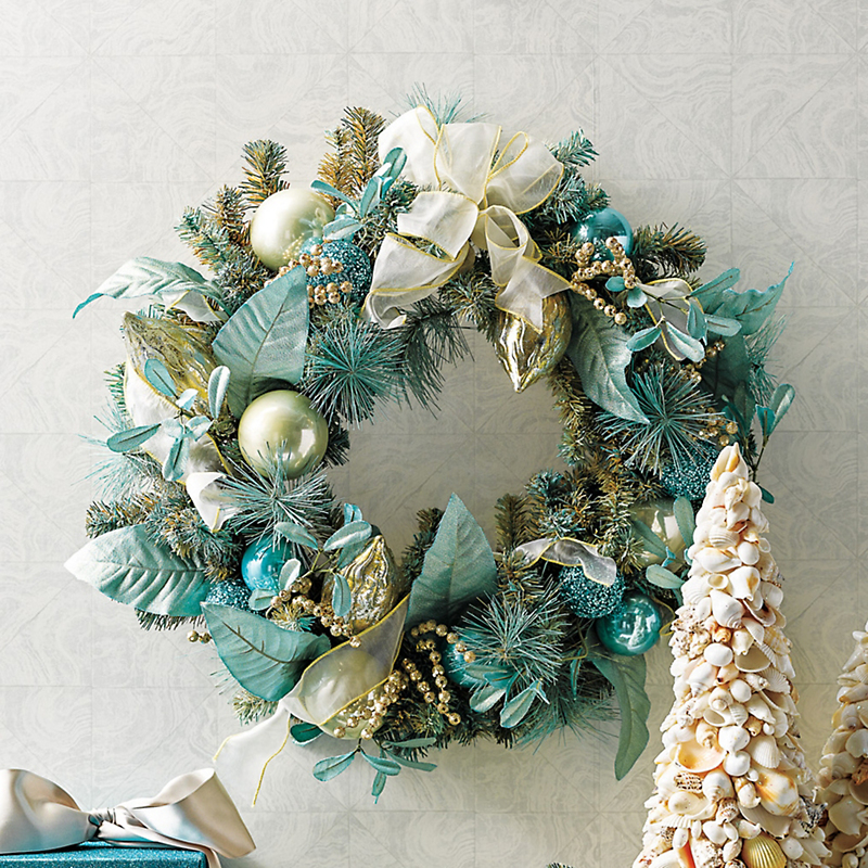 Aquamarine Holiday Wreath