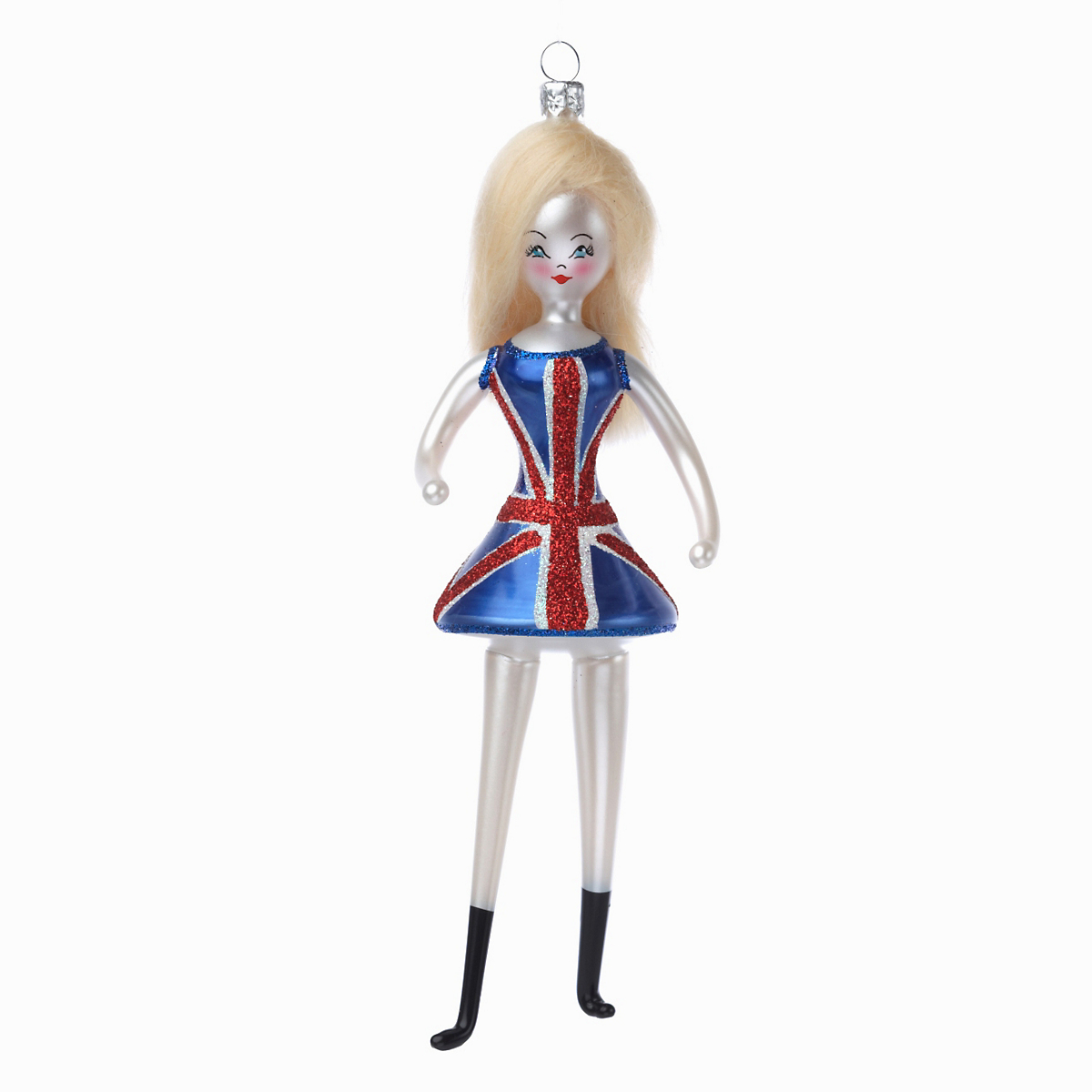 Mod Girl Christmas Ornament