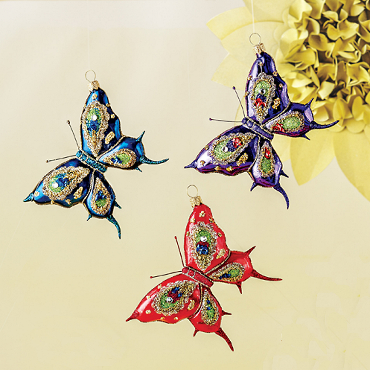 Royal Butterfly Ornaments