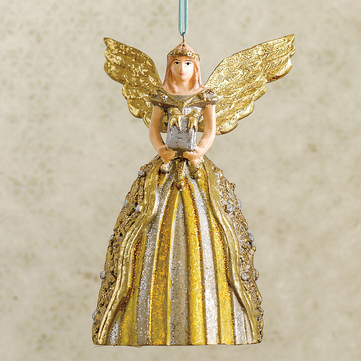 Angel With Gift Christmas Ornament