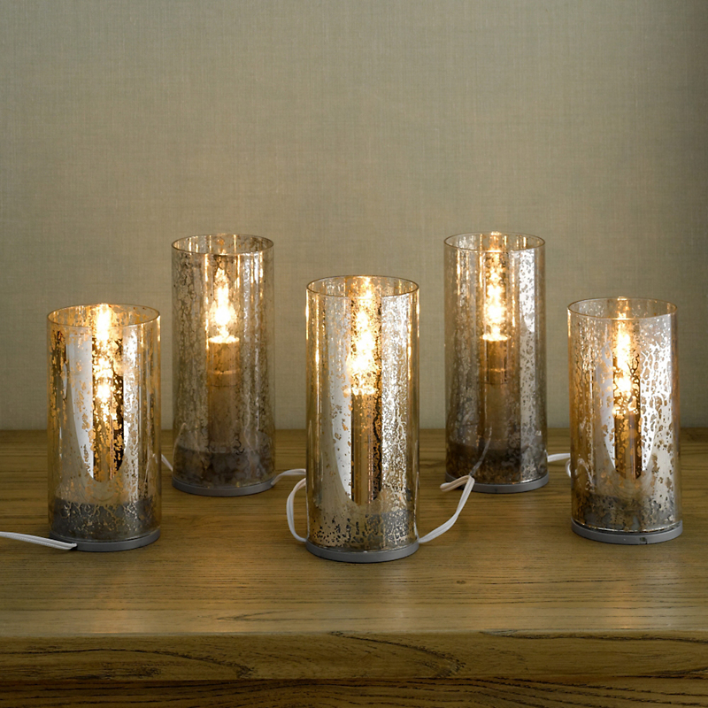 Mercury Glass Electric Candlelights