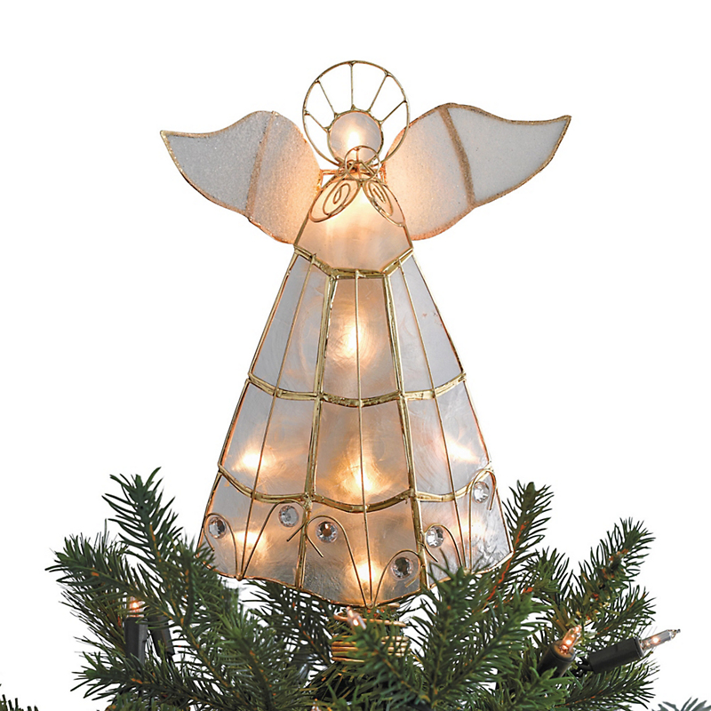 Illuminated Angel Christmas Tree Topper