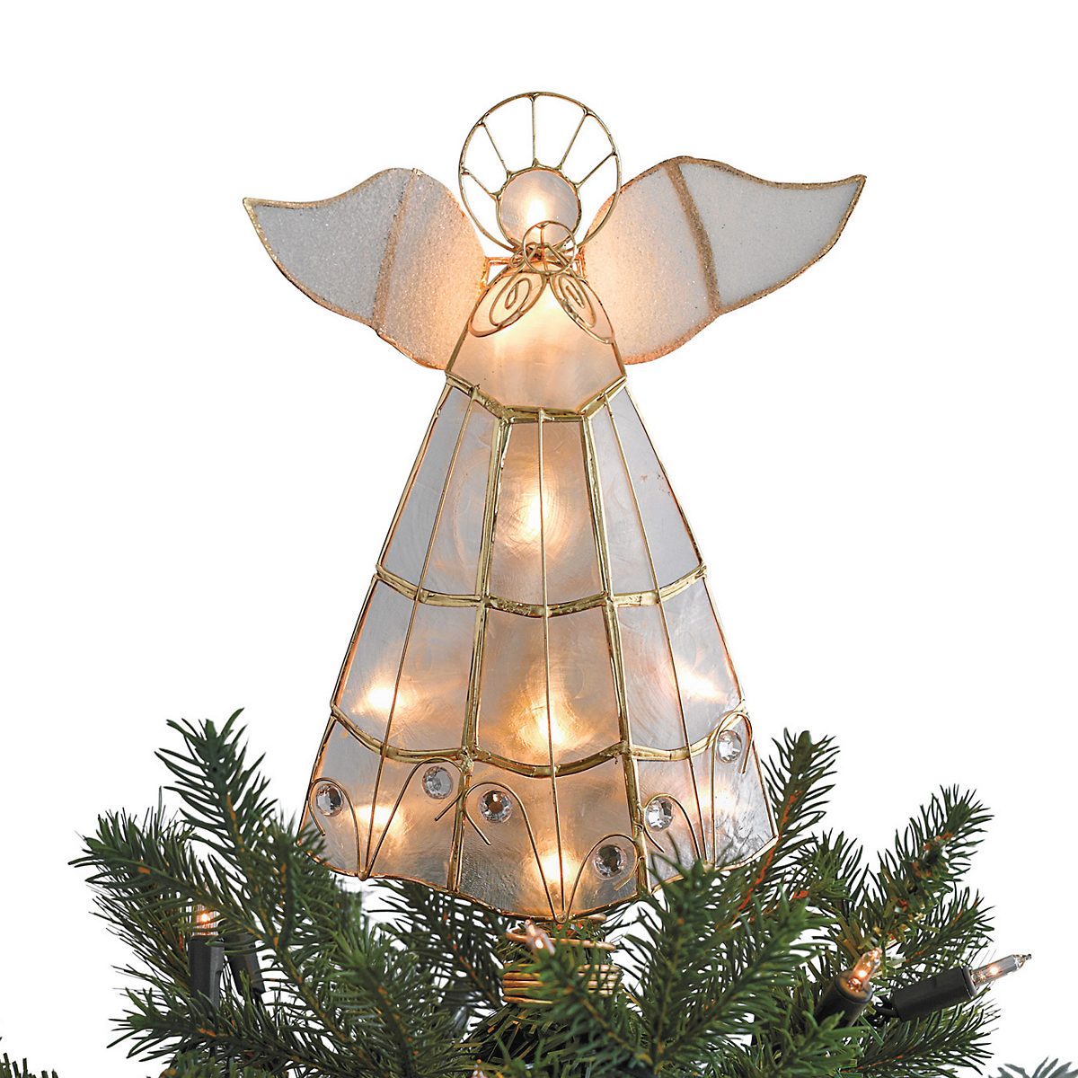 Illuminated Angel Christmas Tree Topper Gump's - Christmas Tree Angel Toppers