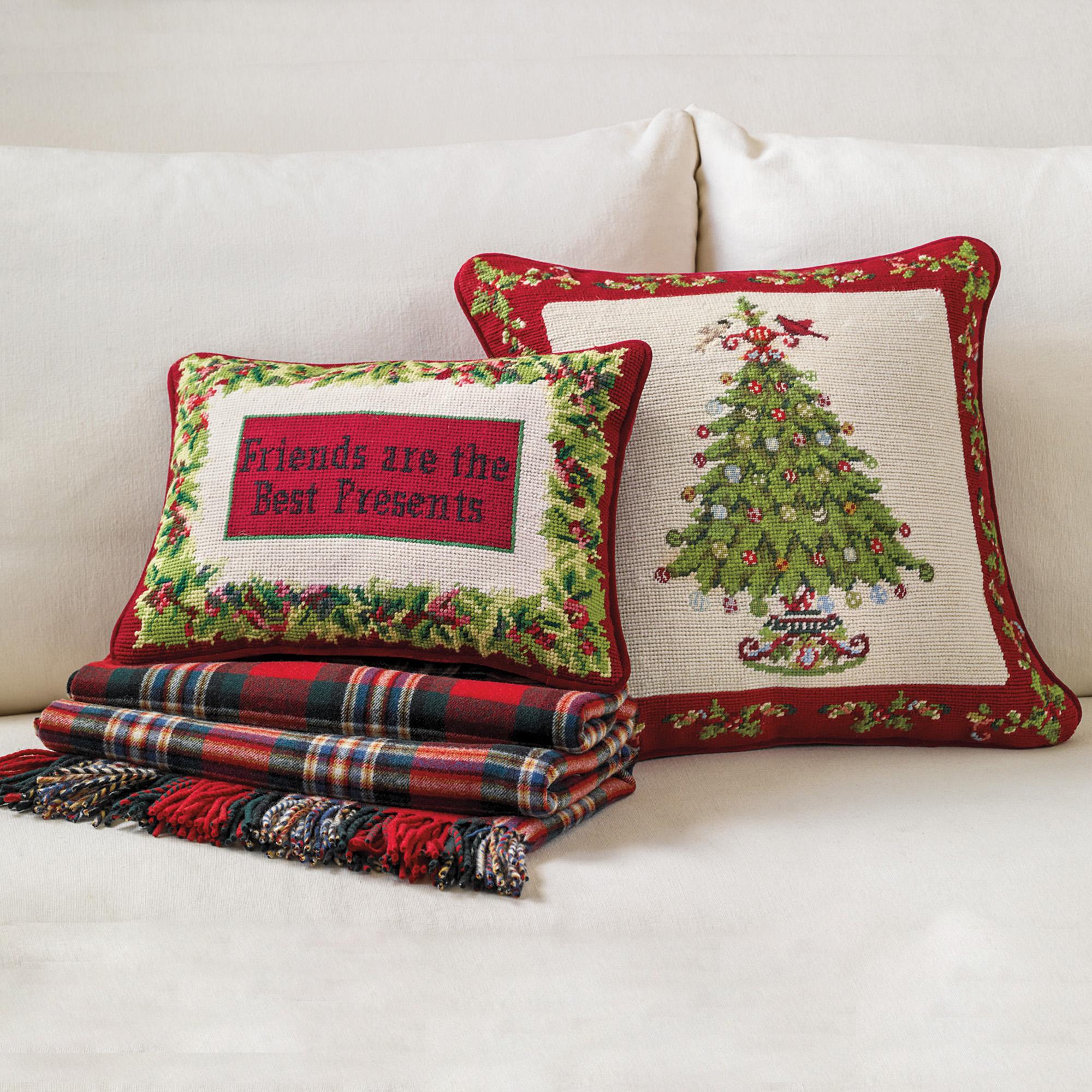 Festive Needlepoint PillowsGumps