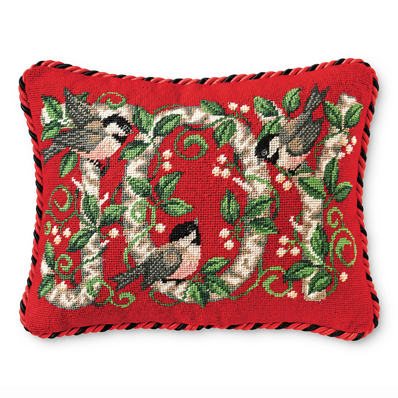 Joy Needlepoint Pillow