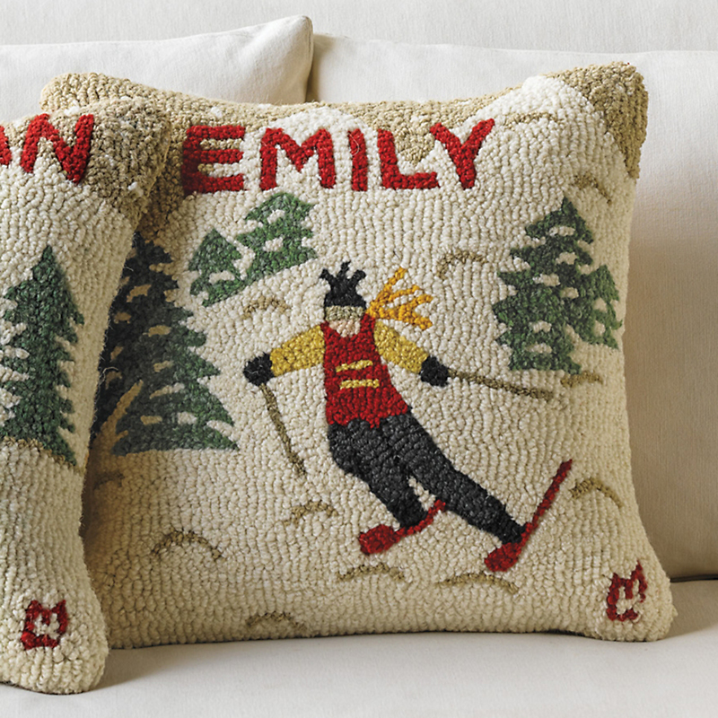 Personalized Downhill Skier Pillow