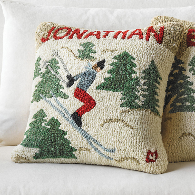 Personalized Ski Jumper Pillow