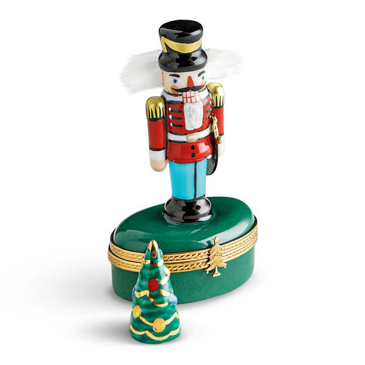 Limoges Nutcracker With Tree