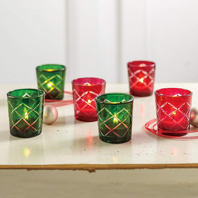 Cut-Glass Votive Sets
