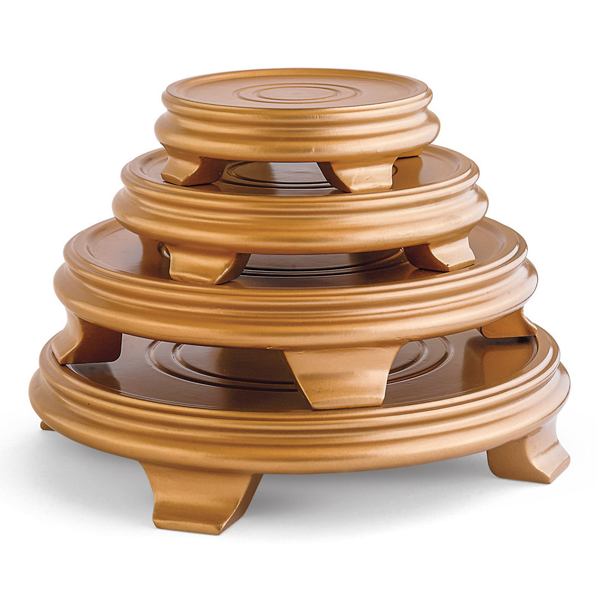 Round Display Stands, Gold