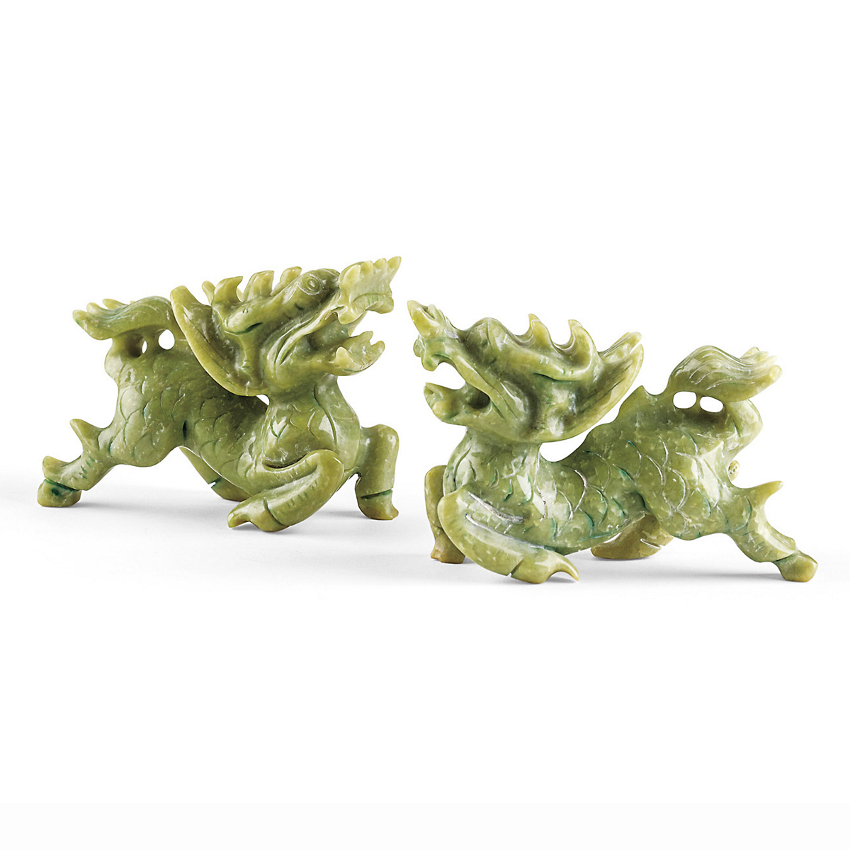 Pair Of Green Foo Dogs