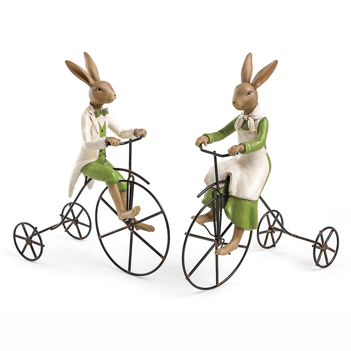 Cycling Mr. & Mrs. Bunny