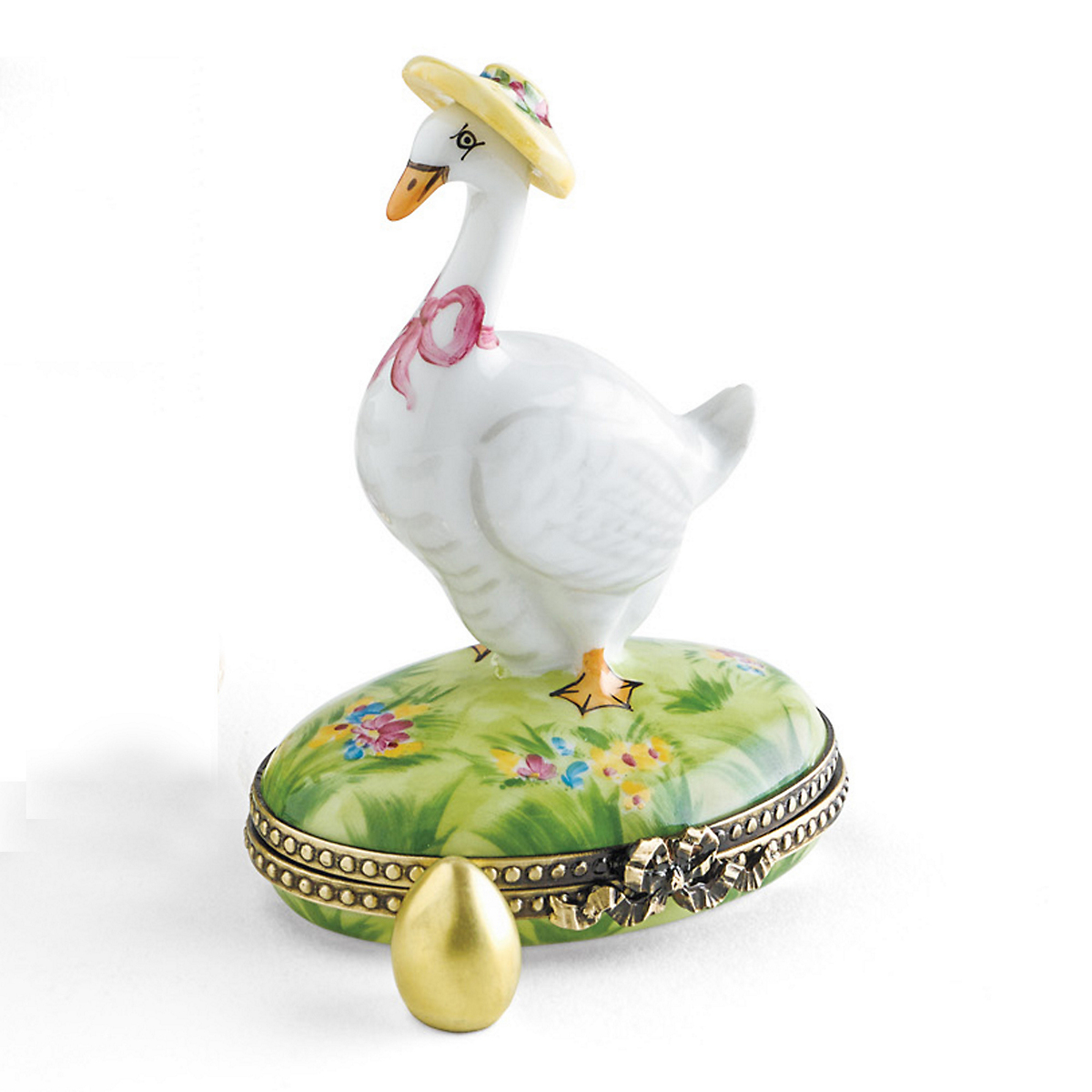 Limoges Goose With Golden Egg