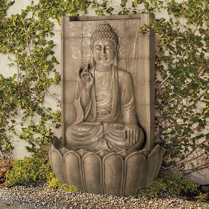 Buddha Fountain With Light