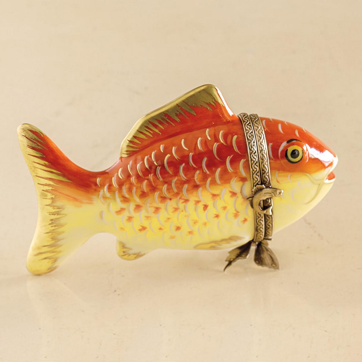 Limoges good fortune koi fish gump 39 s for Koi fish good luck