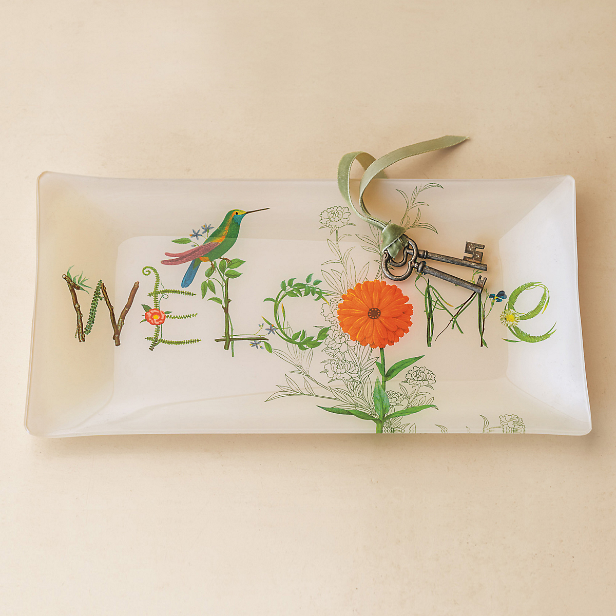 Glass Welcome Tray