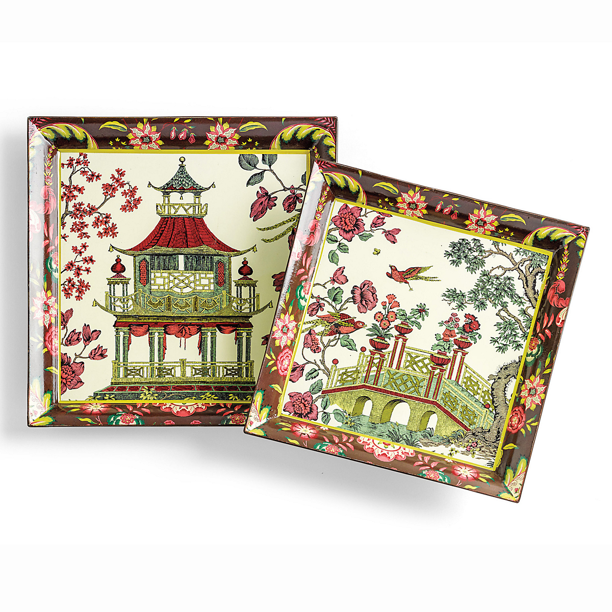 Chinoiserie Tray Set