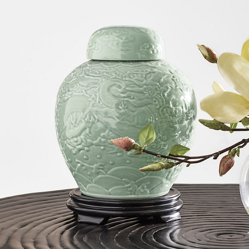 Celadon Dragon Jar