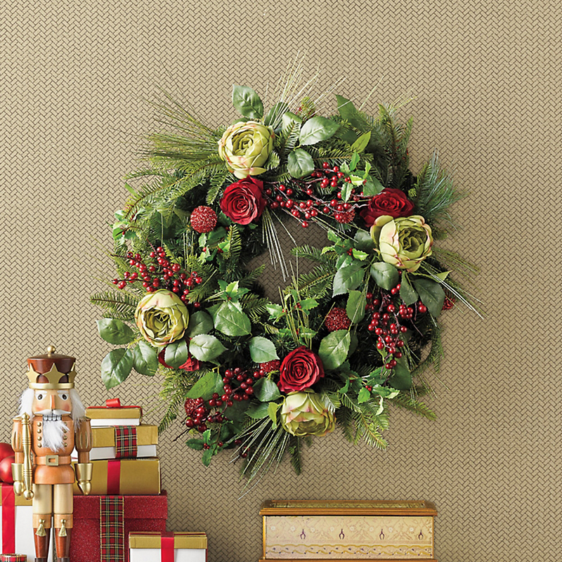Grand Winter Garden Christmas Wreath
