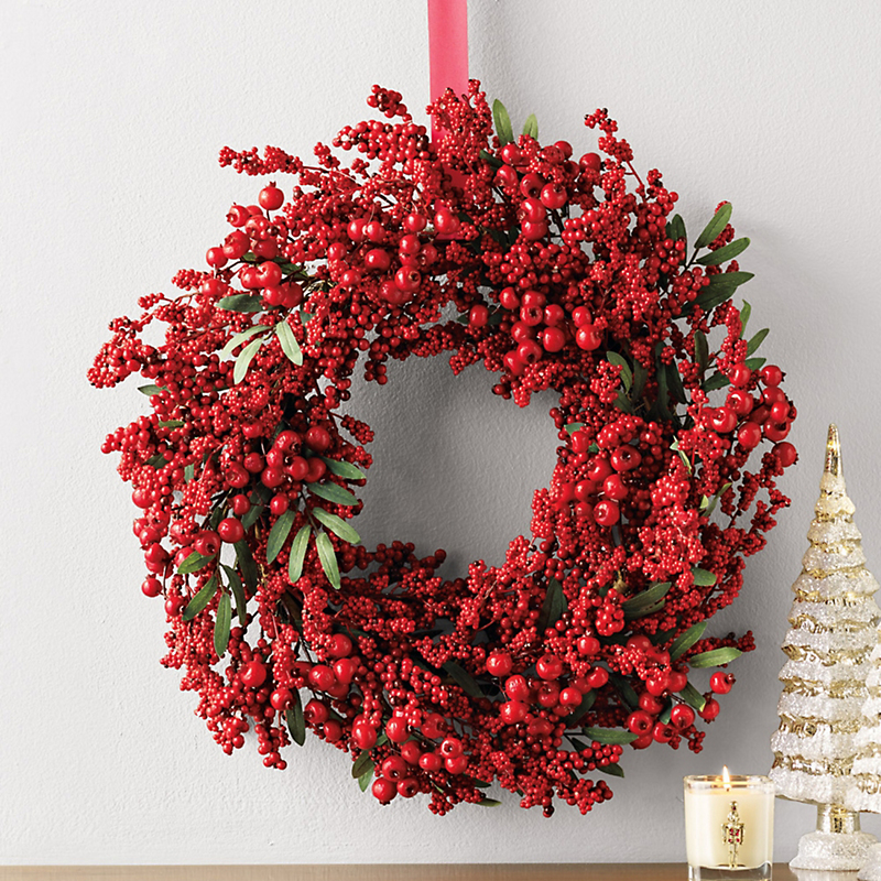 Triple Berry Christmas Wreath