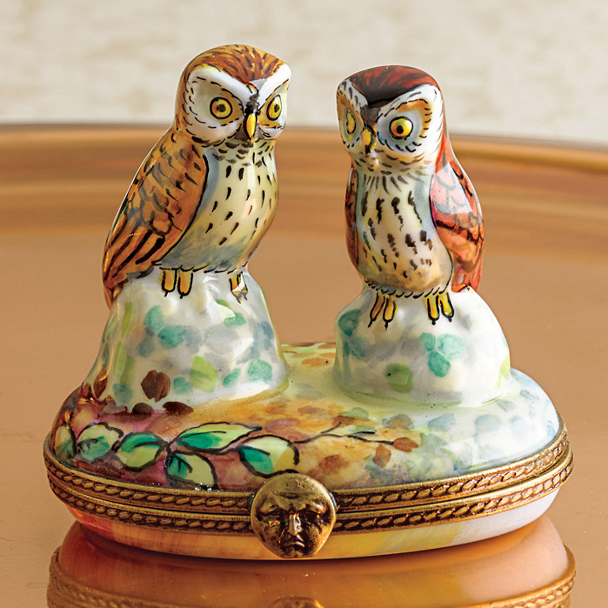 Limoges  Two Owls