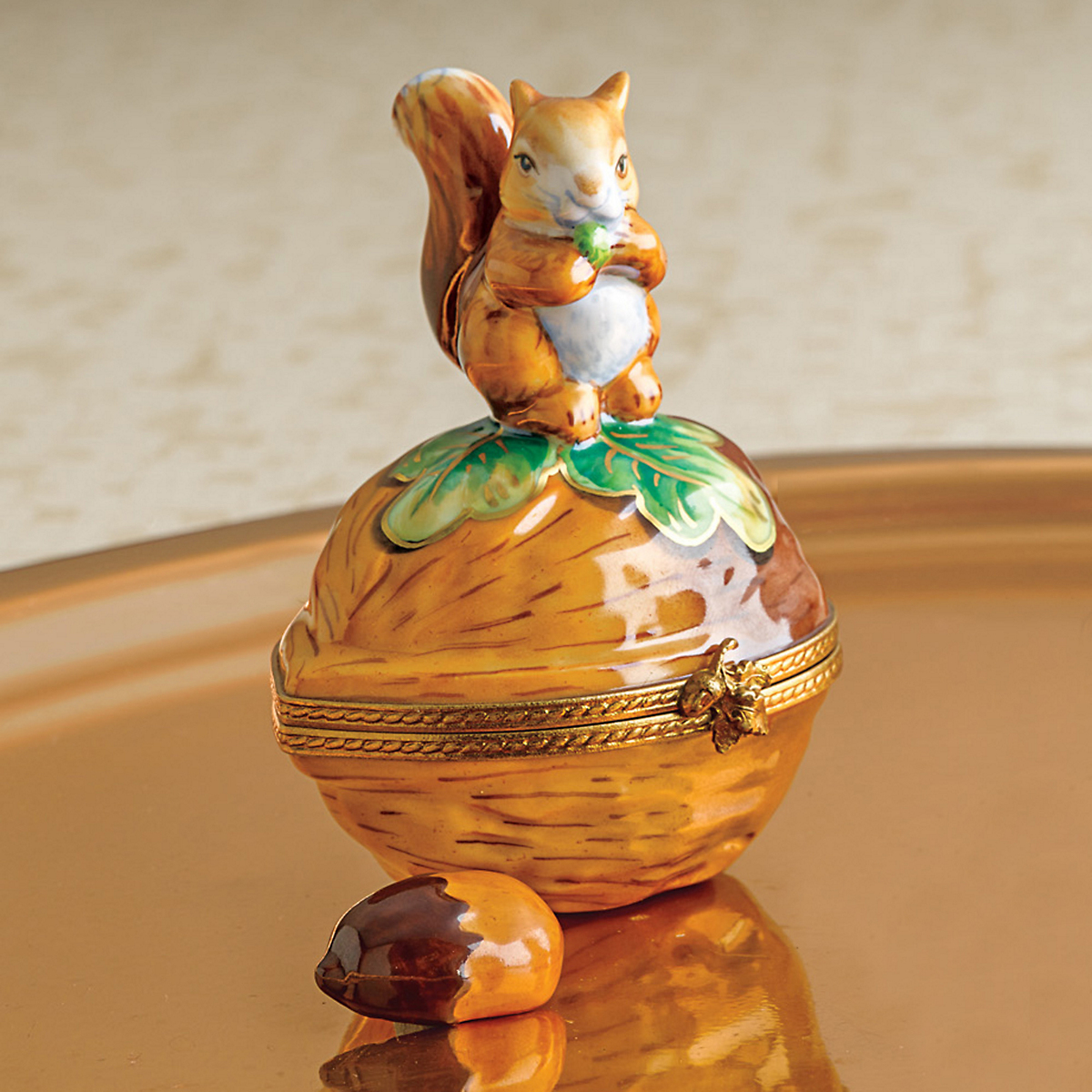 Limoges Squirrel With Hazelnut