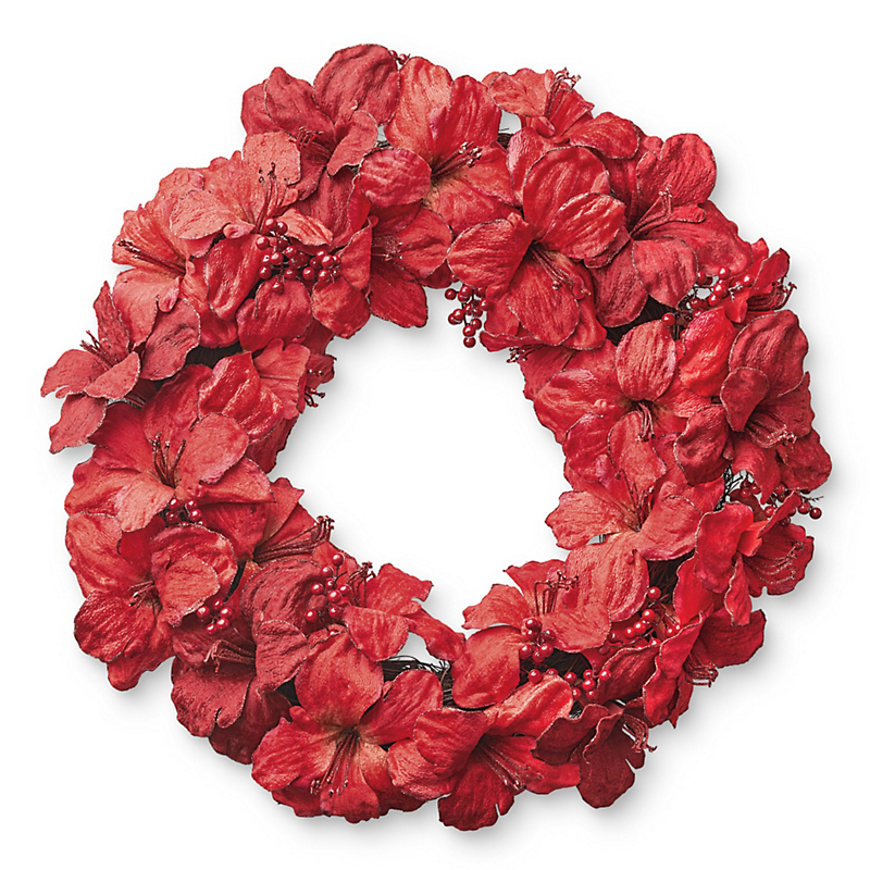Amaryllis & Berry Christmas Wreath