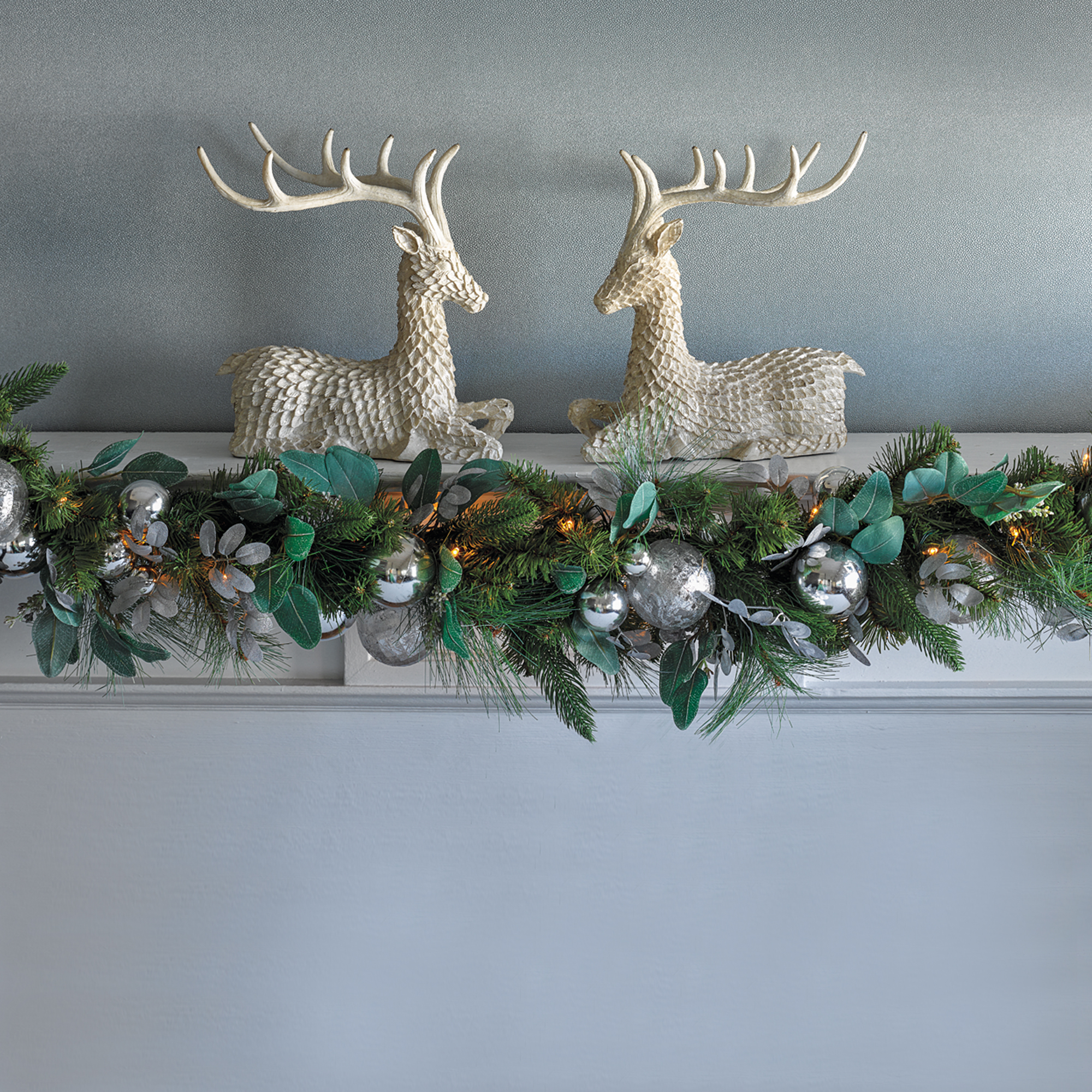 Silver Forest Christmas Garland