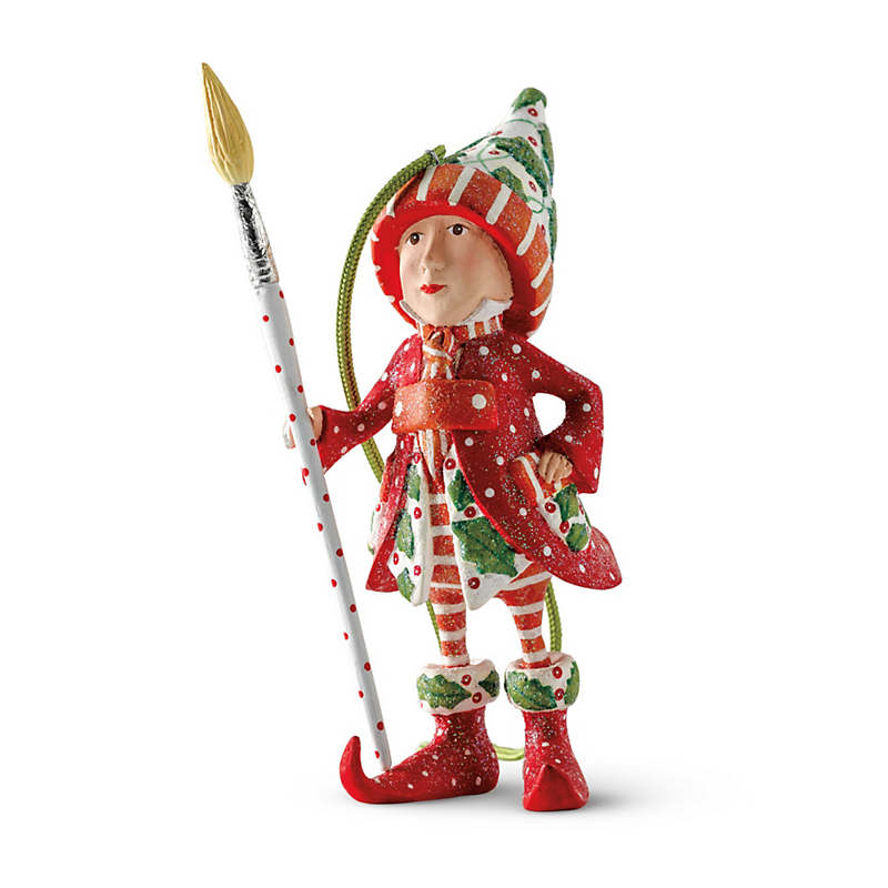 Patience Brewster Painter Elf Christmas Ornament
