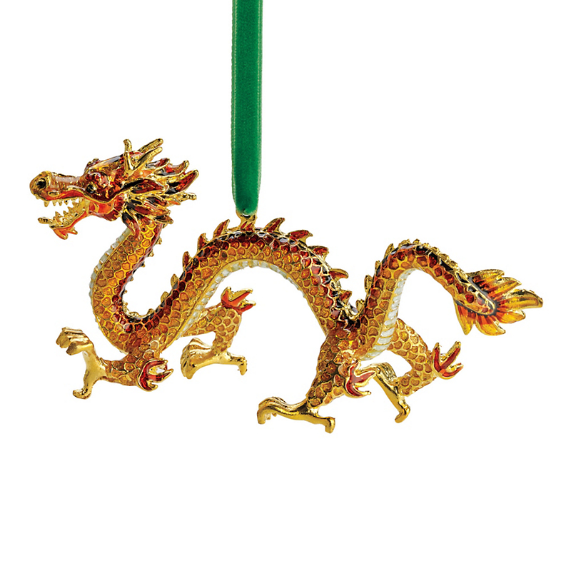 Cloisonne Dragon Christmas Ornament