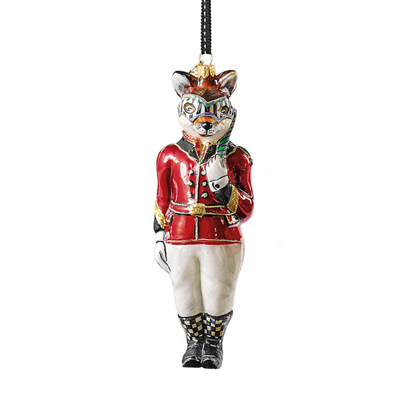 MacKenzie-Childs Sly Foxworthy Christmas Ornament