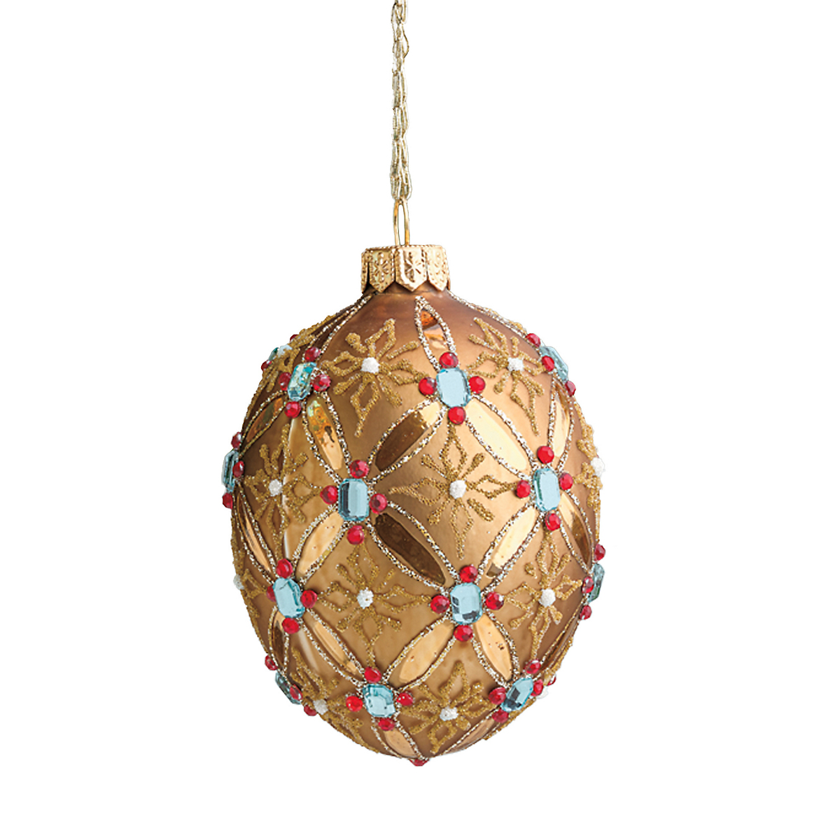 Imperial egg christmas ornaments copper gump s