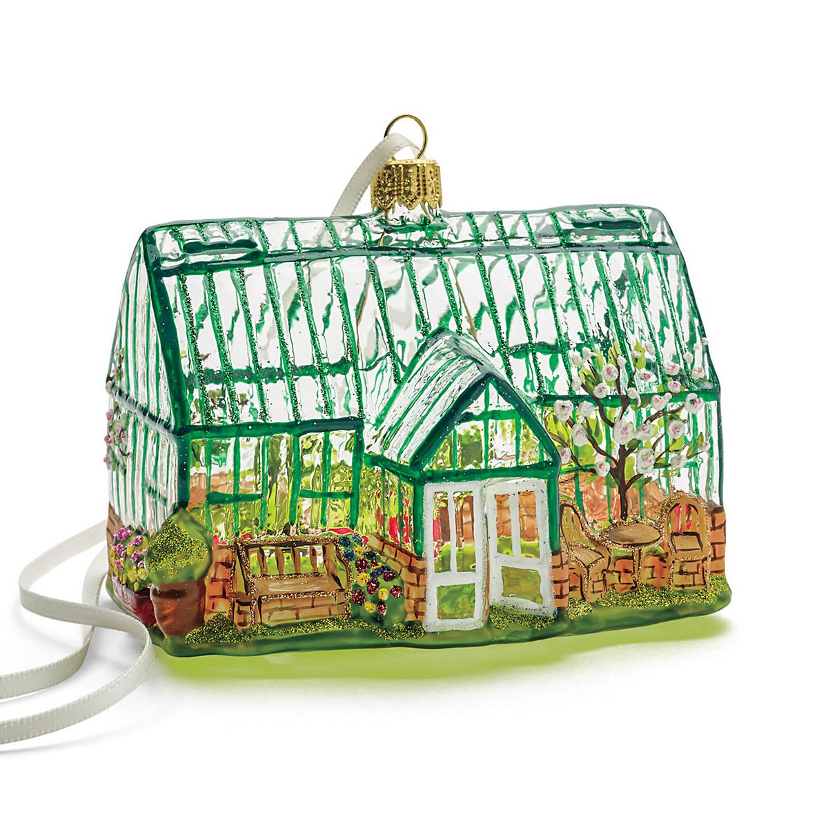 Greenhouse Christmas Ornament  Gumps