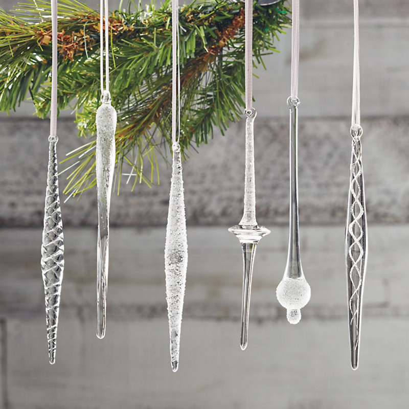 Ice Sculpture Christmas Ornaments