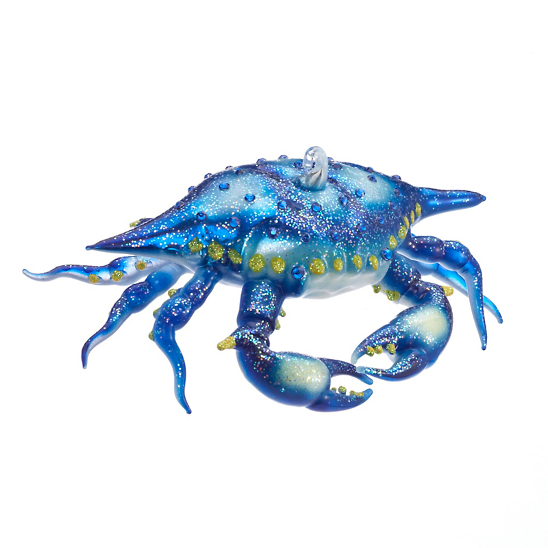 Blue Crab Christmas Ornament