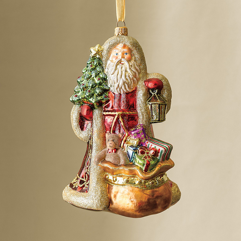 Woodland Santa Christmas Ornament