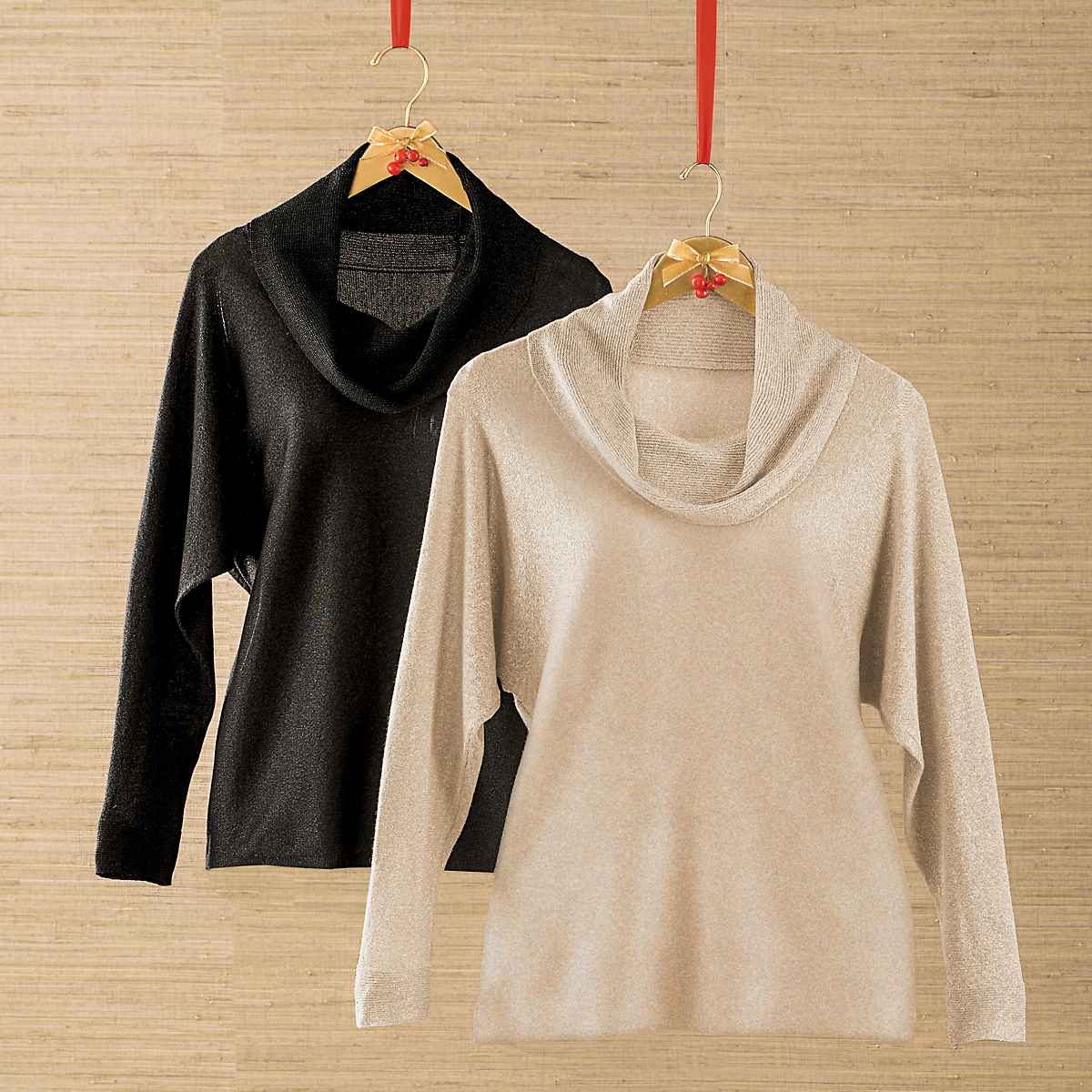 Lurex Cowlneck Sweater