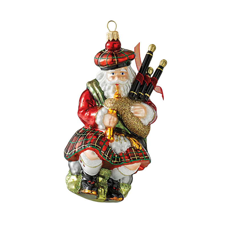 Scottish Santa Christmas Ornament